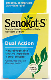 Senokot-S® Dual Action Laxative plus Stool Softener| Gentle and Overnight Relief from Occasional Constipation